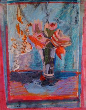 BLUE REFLECTION-26.50 x 20.25-mixed media- 1995