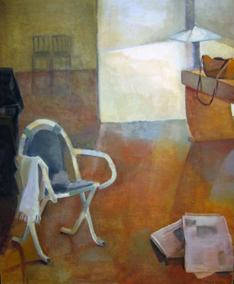 NEW YORK TIMES- 60 x 48- oil on canvas- 1992