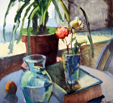 BY THE WINDOW-24 x 26- oil on canvas-1994