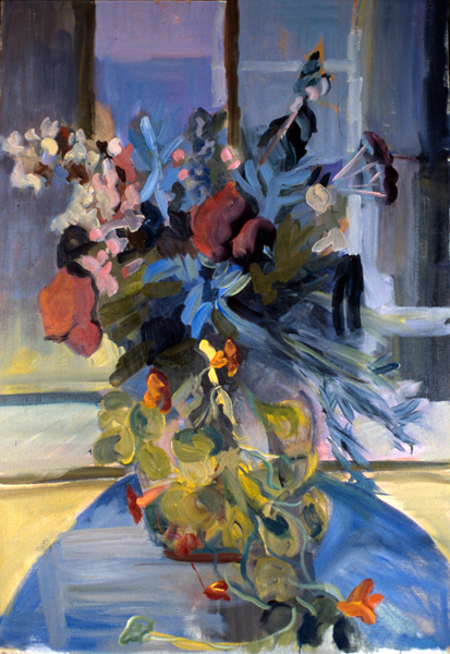 FLOWER SALAD- 40 x 28 - oil on canvas- 1996