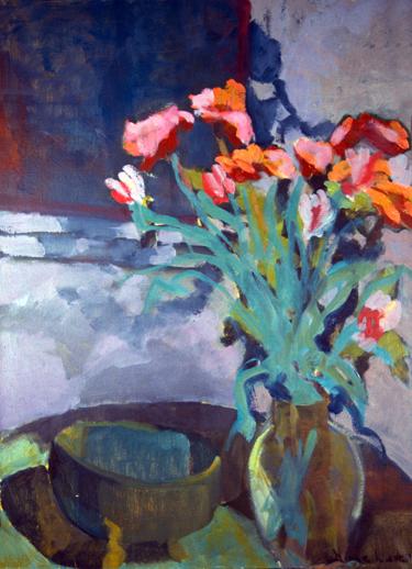 MIDNIGHT ROSES- 30 x 24- oil on canvas- 1994