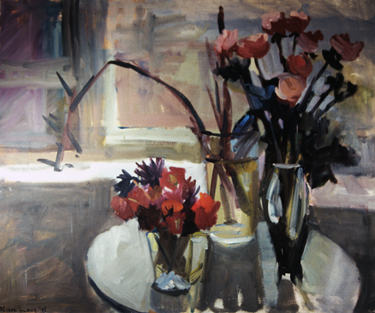 ROSEY VIEW-  40 x 48- oil on canvas- 1995