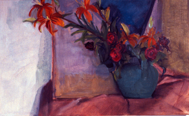 THE GREEN POT-  26 x 16- oil on canvas- 1989