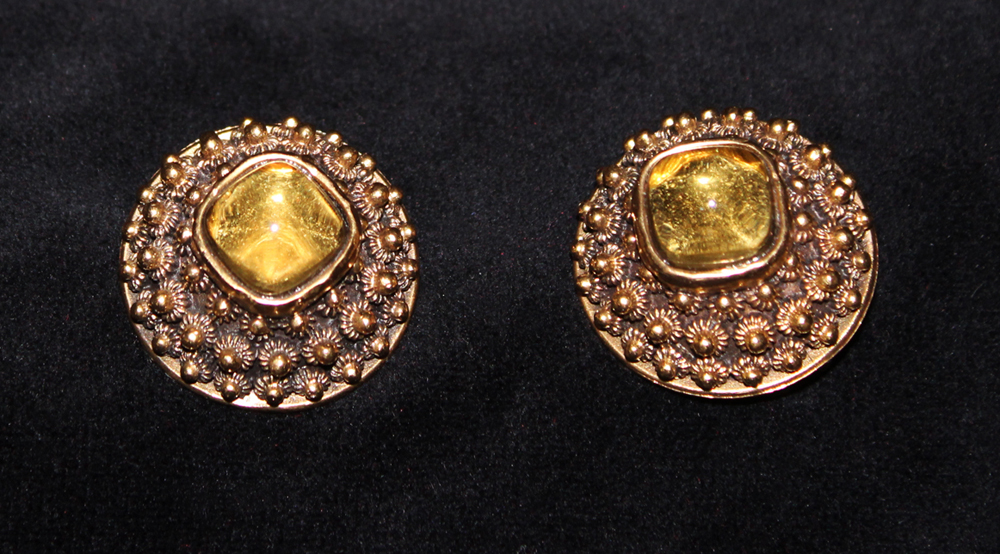 MANDARIN FINIAL EARRINGS-1971