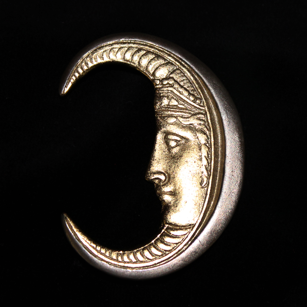 CRESCENT MOON PIN SILVER-1971
