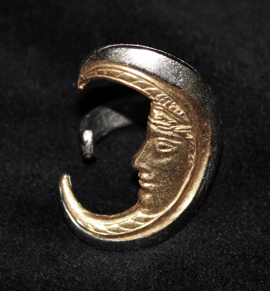 CRESCENT MOON RING SILVER-1971