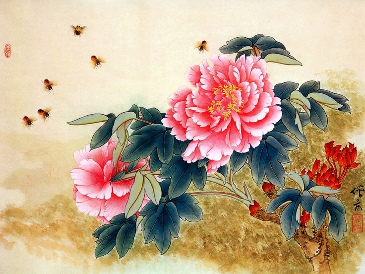 Chinese Painting: Bee