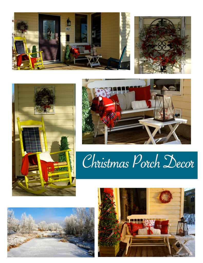 Christmas Porch Styling & Decorating In a Fresh, New Way!; Pure Simple Change, Simplicity Life Coaching...At Home; Sarah Creek