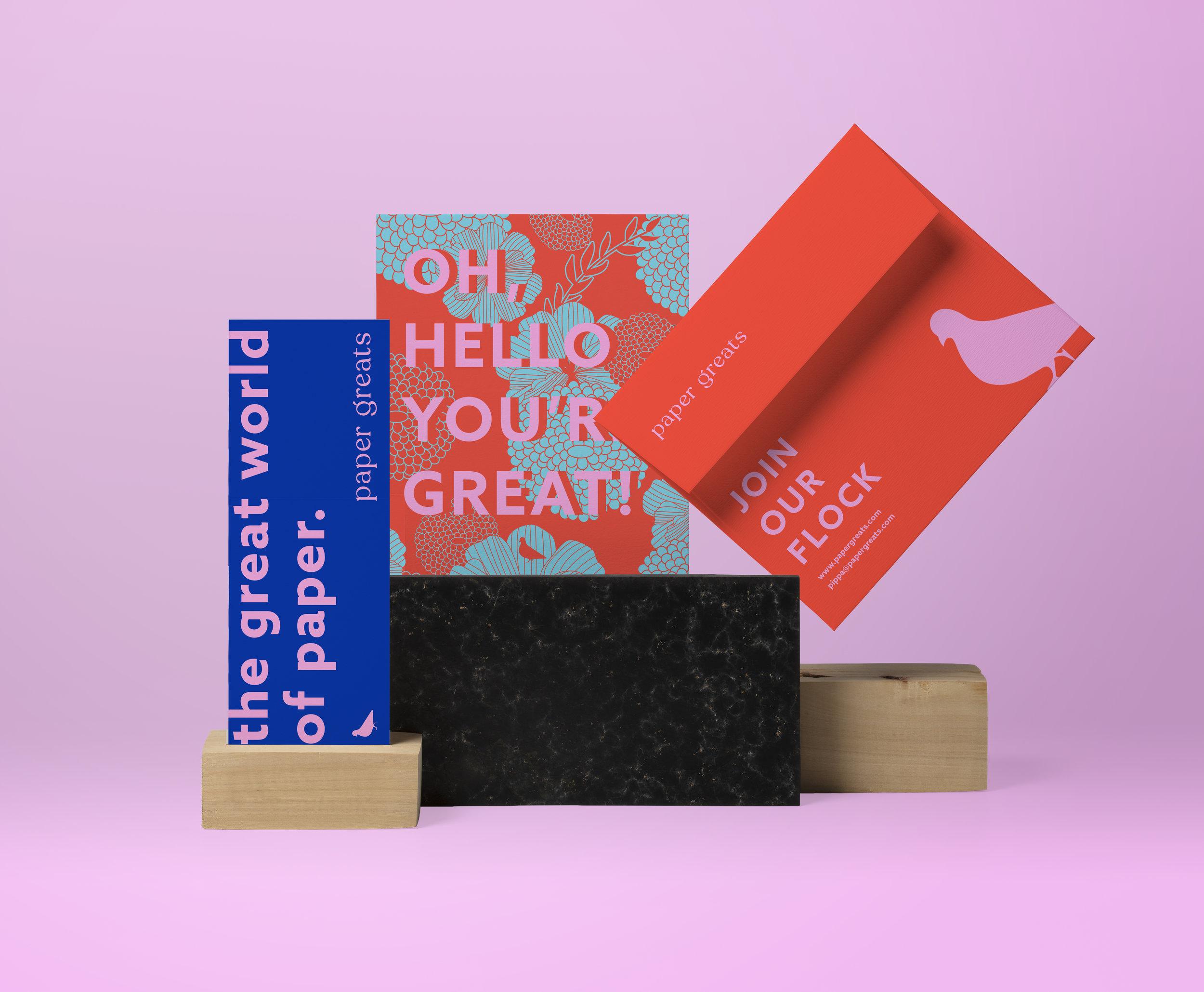 Paper Greats   Brand Identity, Art Direction, Surface Design, Website Design