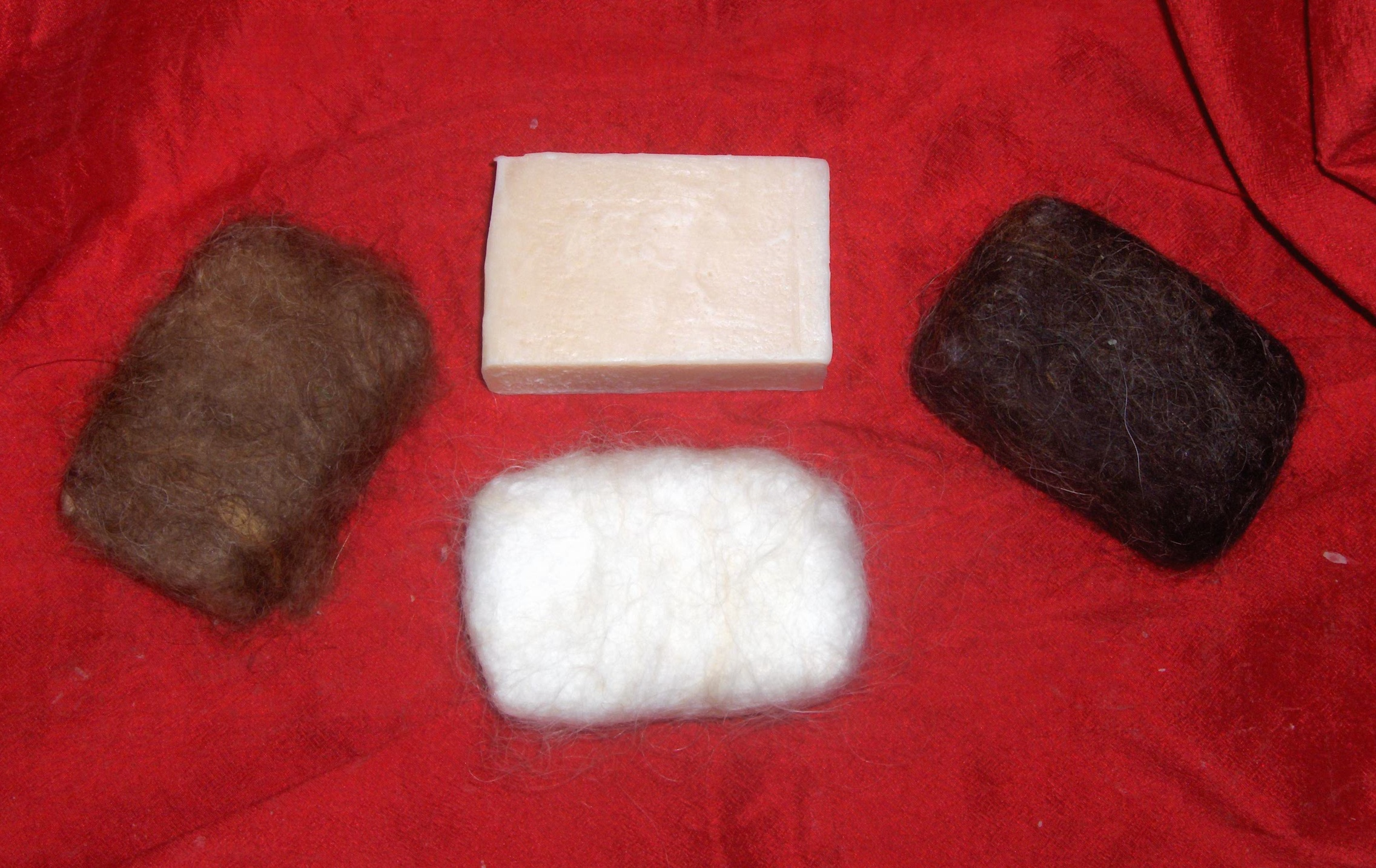 felted sheep milk soaps
