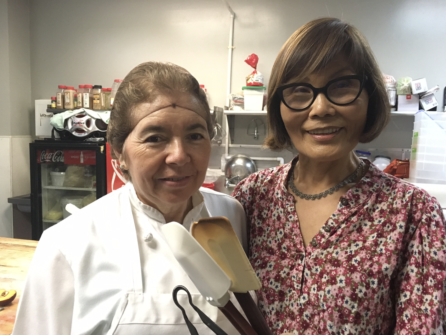 Sumi Chang, right,with Maria Rodriguez, Pastry Chef at  Europane Bakery .