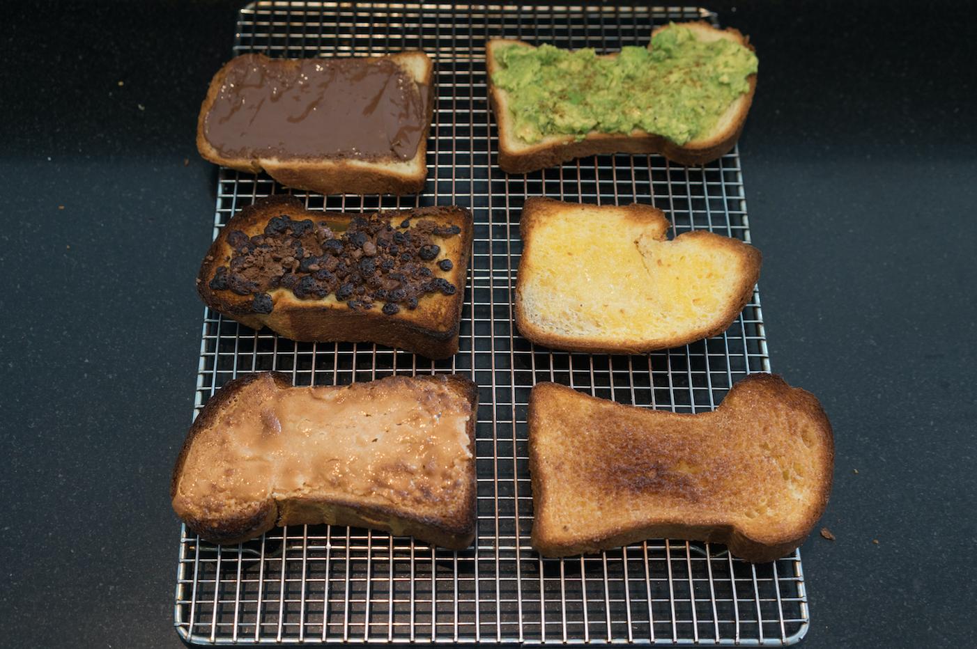 Various comfort toasts. Photo by Sally Krueger-Wyman.