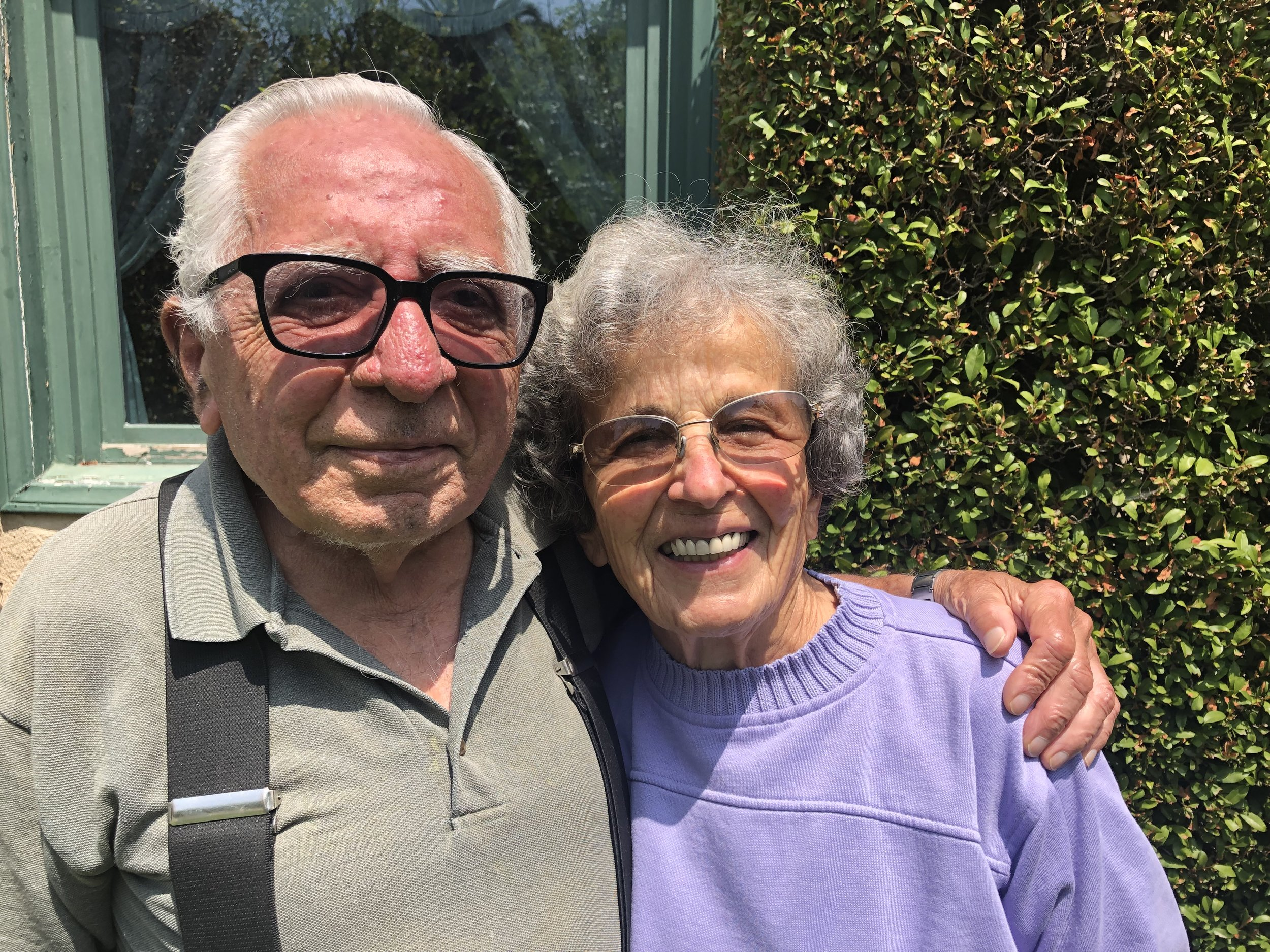 Mary Aghoian  with her husband Abraham. Mary's journey to Pasadena originating in Syria is a story of resilience and honoring of culture through food and family.