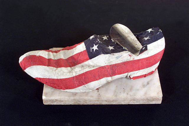 3. Stepping into the American Dream, American Flag Series, 1998-06, Sculpture,.jpg