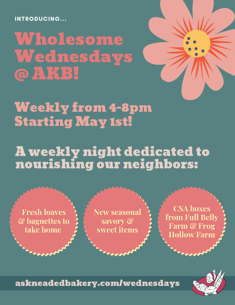 Click to download the Wholesome Wednesdays flyer and share it with friends!