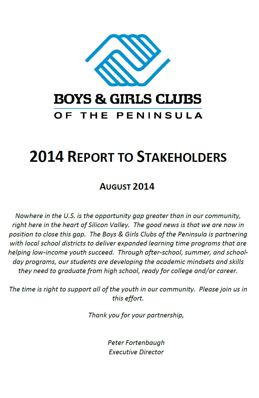 2014 Report to Stakeholders