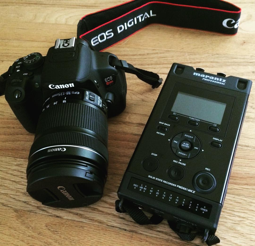 The new camera and audio recorder have arrived!