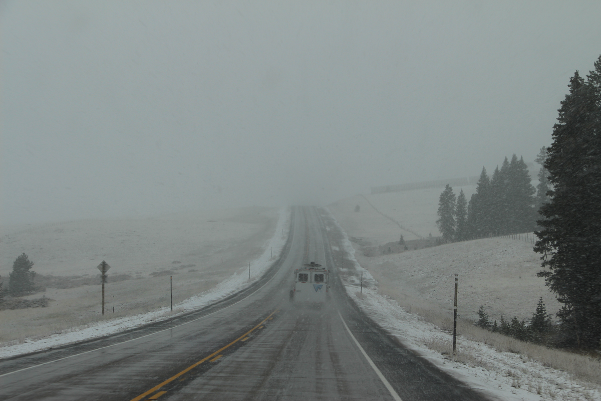 Snow over the Bighorn Mountains