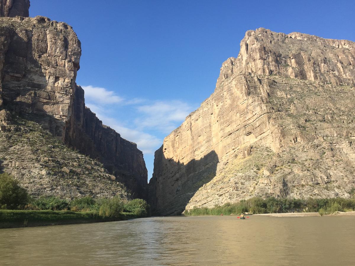 The end of Santa Elena Canyon