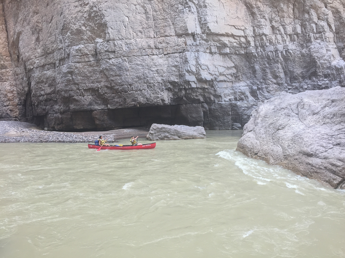 Nina and Kenzie approaching Rockslide
