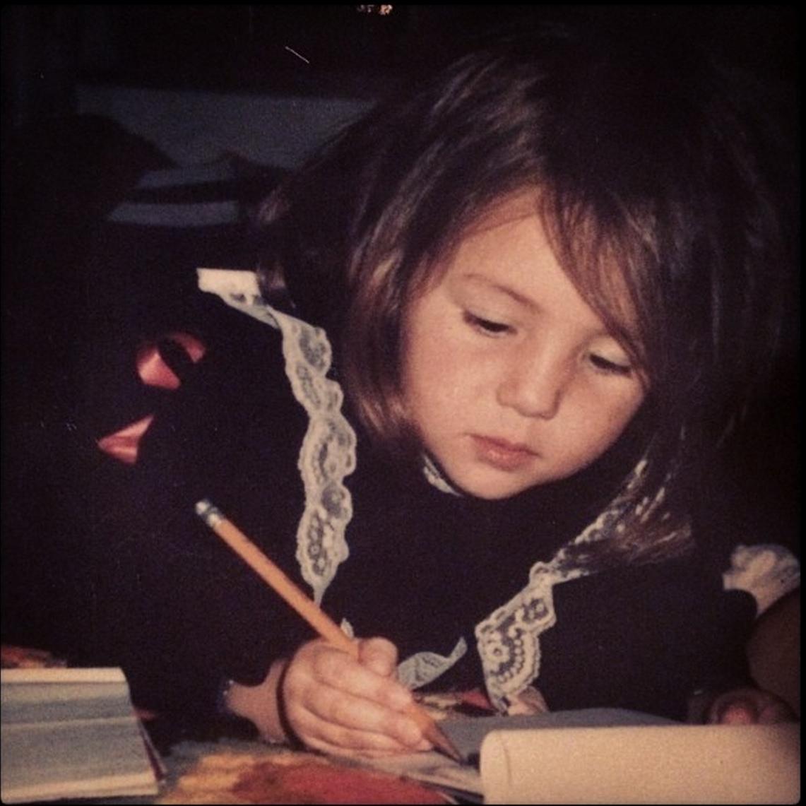 teacher pic wildwood kid me writing.JPG