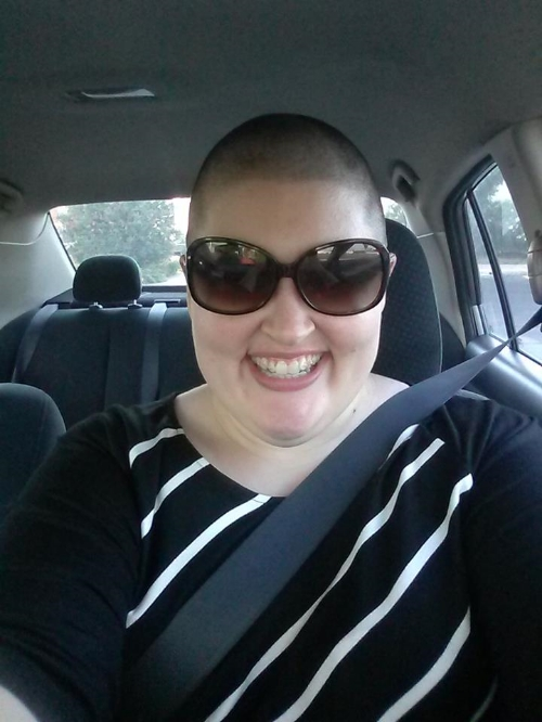 That's me in 2014, about an hour after I had my head shaved.