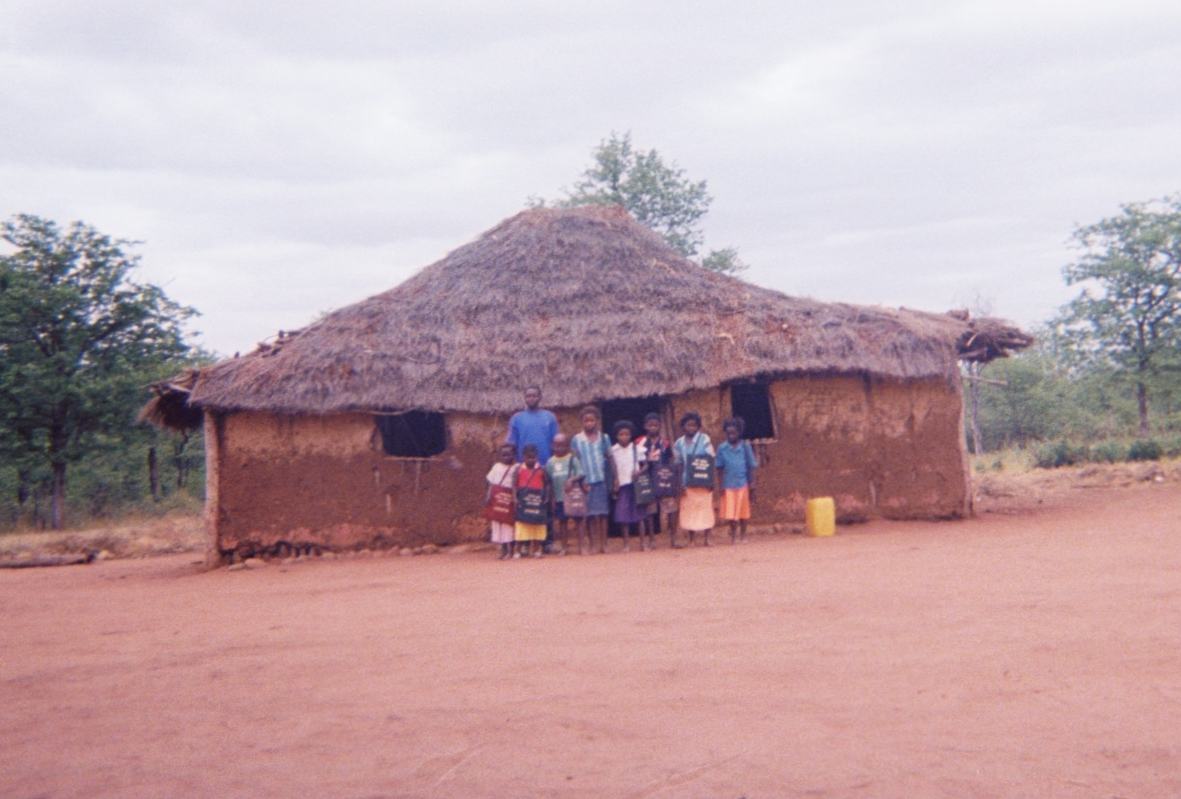 The school in the village of Nanguene before resettlement.  This photo was taken by a resident of the village in 2008
