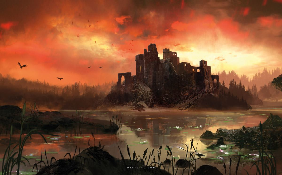 Burning Sky by  Nele-Diel , hat tip to  tabletopresources who's Tumblr I saw it on