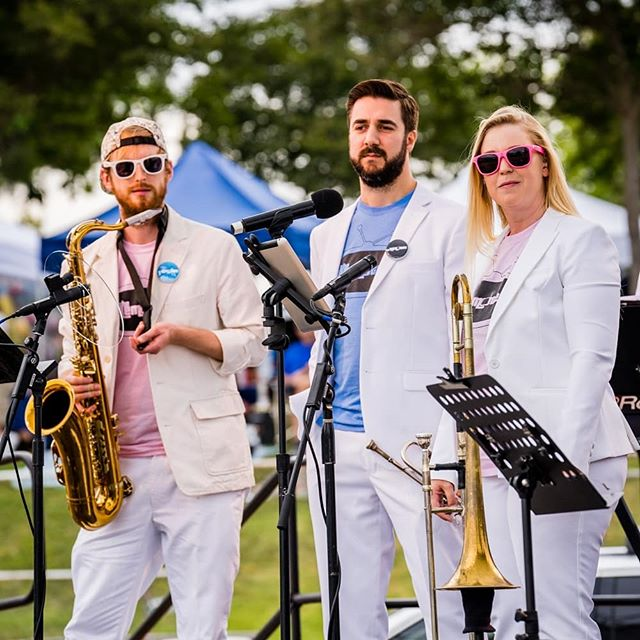 We love our horn section! Thanks to @dustinthompsonphotography for capturing our three talented, hardworking horn players @r.w.enoch #joeferruzzo and @lindsaytrombone at the city of Murrieta's 28th Birthday Bash on June 29th #remotes #remotesband #theremotes #theremotesband #tv #tvtributeband #tvthemes #tvthemesongs #themesongs #hornsection