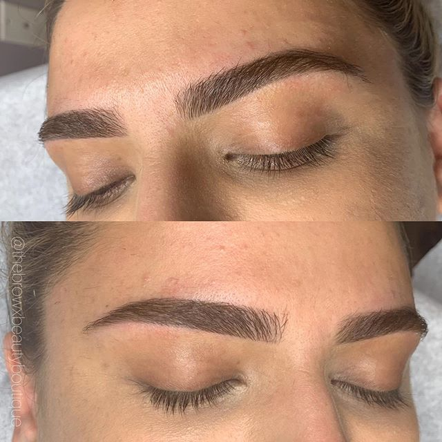 Healed brows at 4 weeks 🔥 Went in for a tiny touch up and these are good to go 💯 Booking all Permanent work via email 📧 .