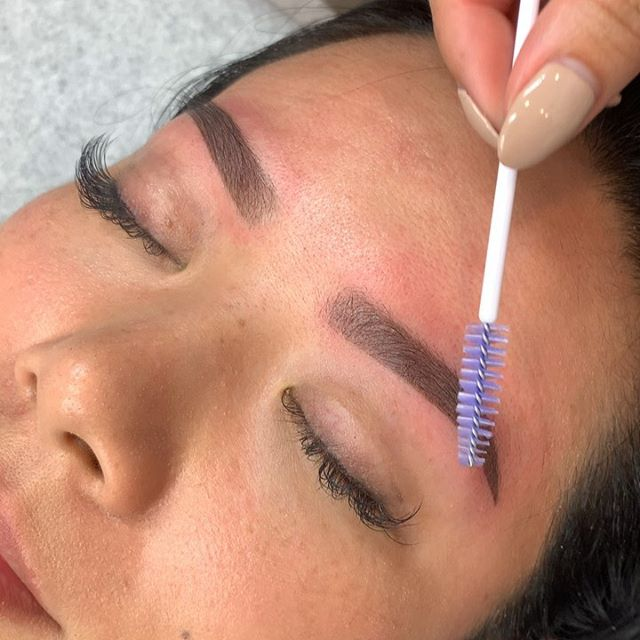 More brows, more life 🙏🏼 Immediately after touch up ✨ Swipe to see healed before touch up ✨ Booking all permanent work via email 📧 .