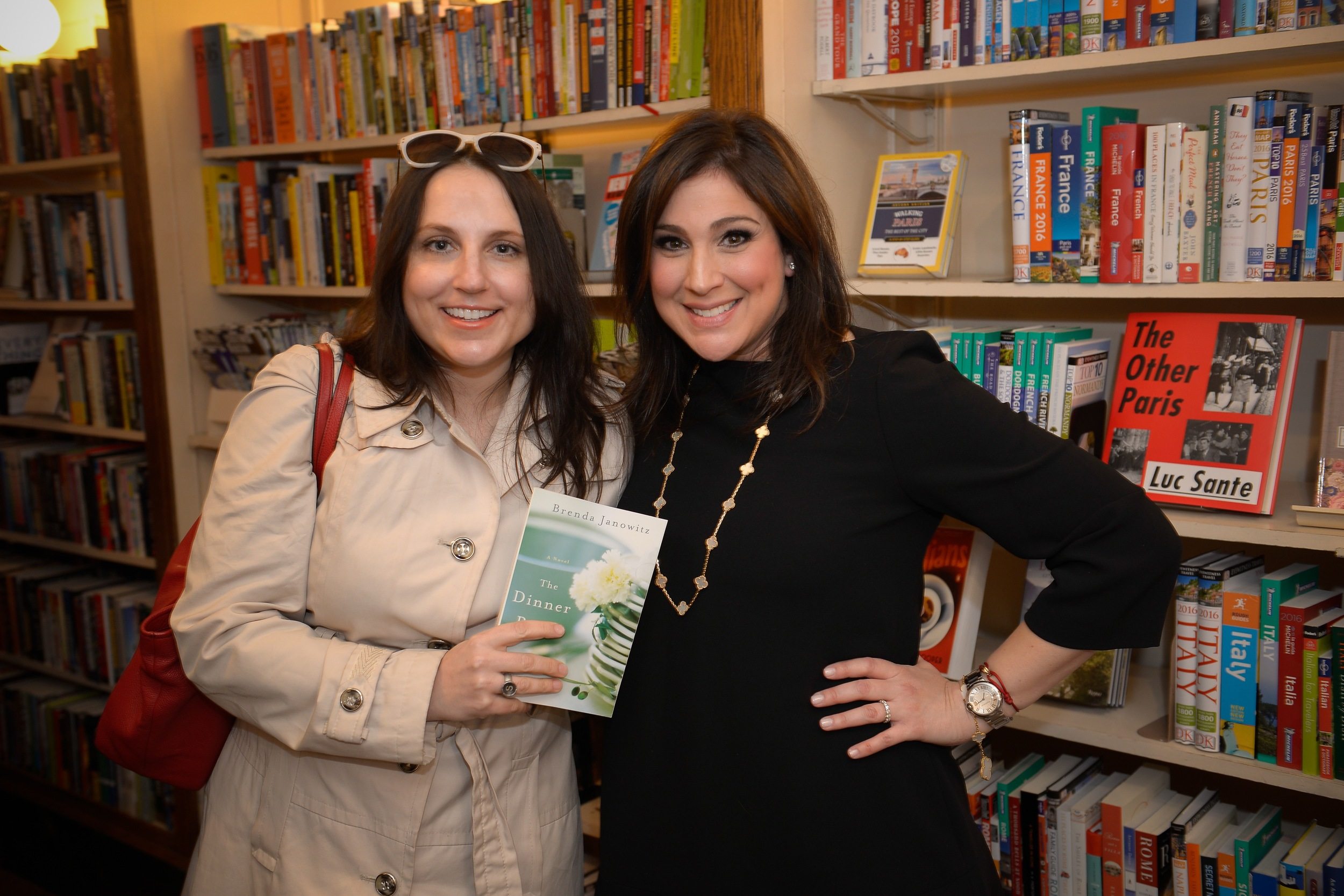 With author Shari Goldhagen