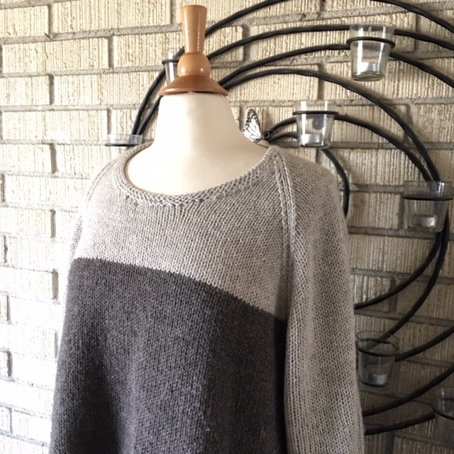 Cala Luna   Sweater by   Christina Ghirlanda   in   Classic Elite     Vista   colors Ash and Beaver Gray