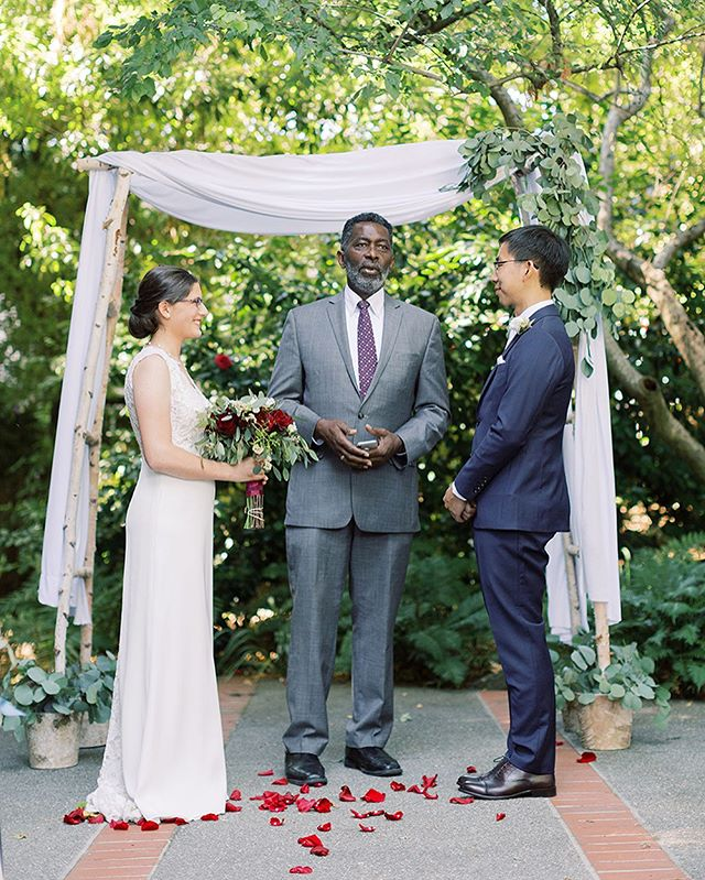 This officiant / family friend gave one of the best ceremony speeches I've heard to date. Loved being a part of the beautiful garden wedding at the #millvalleyoutdoorclub . . . . . . . . . . #millvalleyoutdoorartclubwedding #norcalwed  #bride #groom #weddingday #weddingdress #marinwedding #californiaweddingphotographer #californiawedding #outdoorceremony #thatsdarling #weddinginspiration #theknot #bayareaweddingphotographer #realwedding #newlywed #huffpostido #soloverly #lookslikefilm #loveintentionally #married #featureoncewed #featurememagrouge #mrandmrs #bridetobe2020 #sayingido #shesaidyes #inlove #marryingmybestfriend