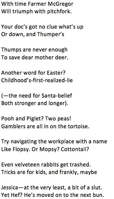 Secrets I've Told My Bunny Poem