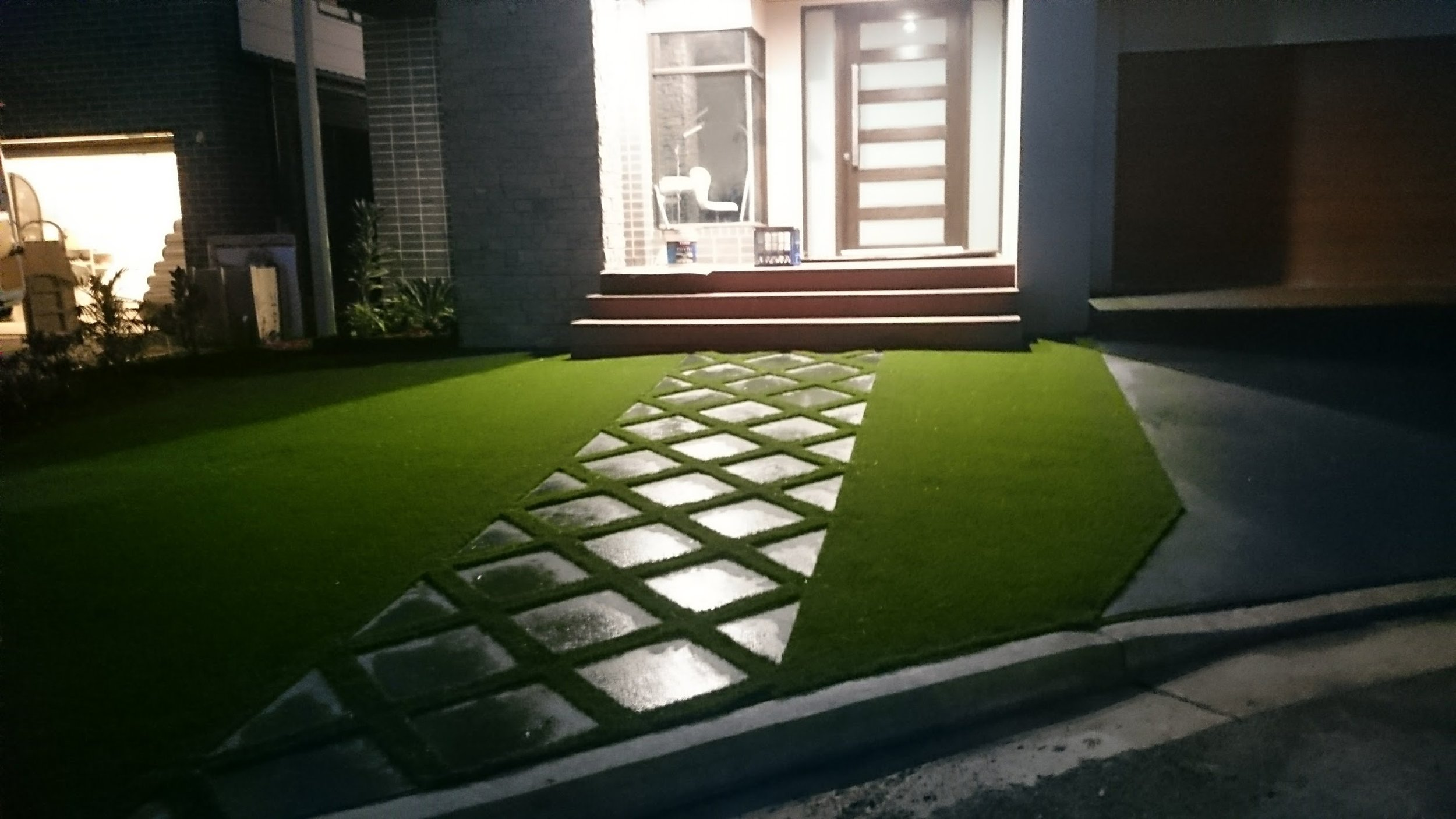 A great design using pavers and Royal Grass Silk 35.