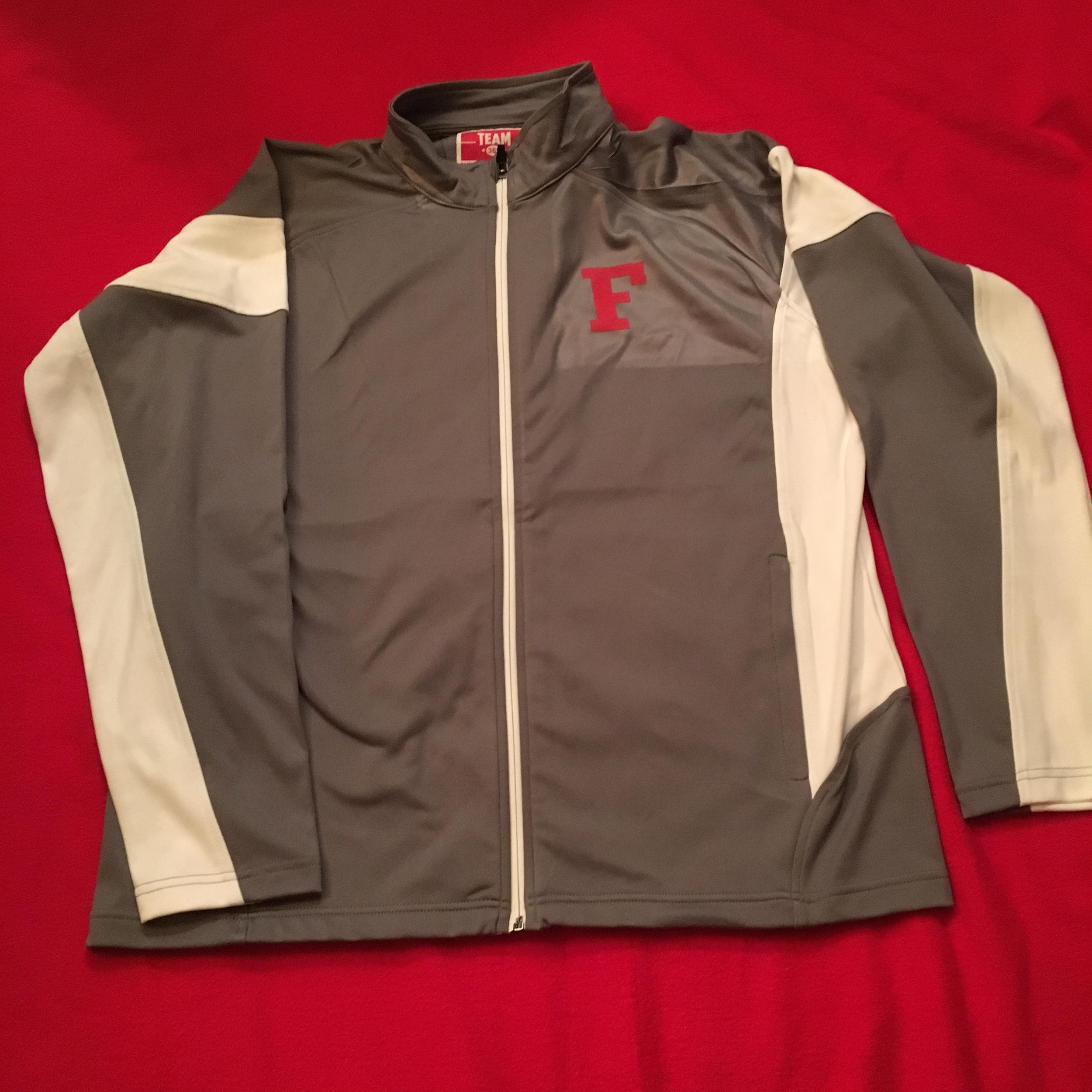 SW Men's grey/white full zip jacket w/ front logo