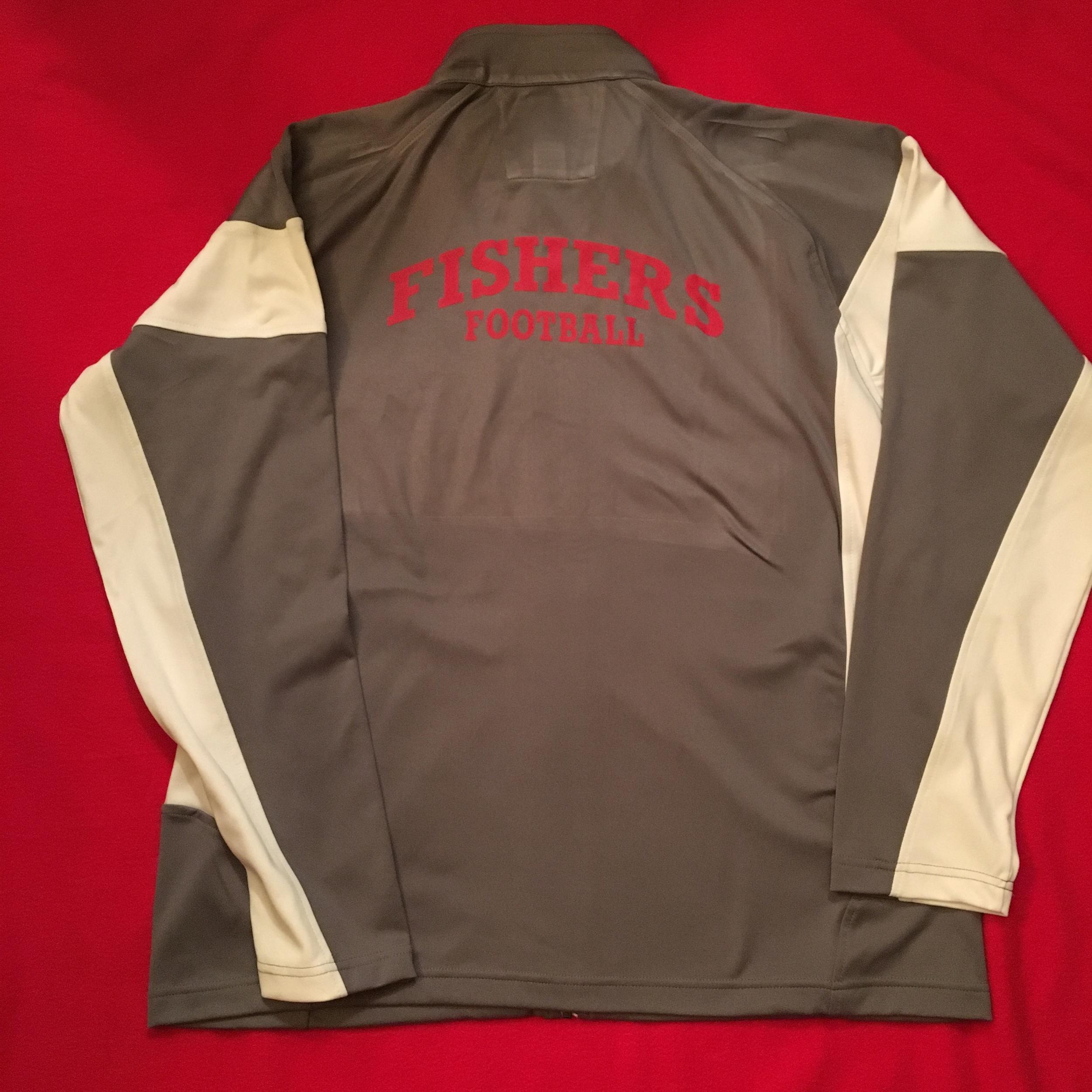 SW Men's grey/white full zip jacket w/ back logo