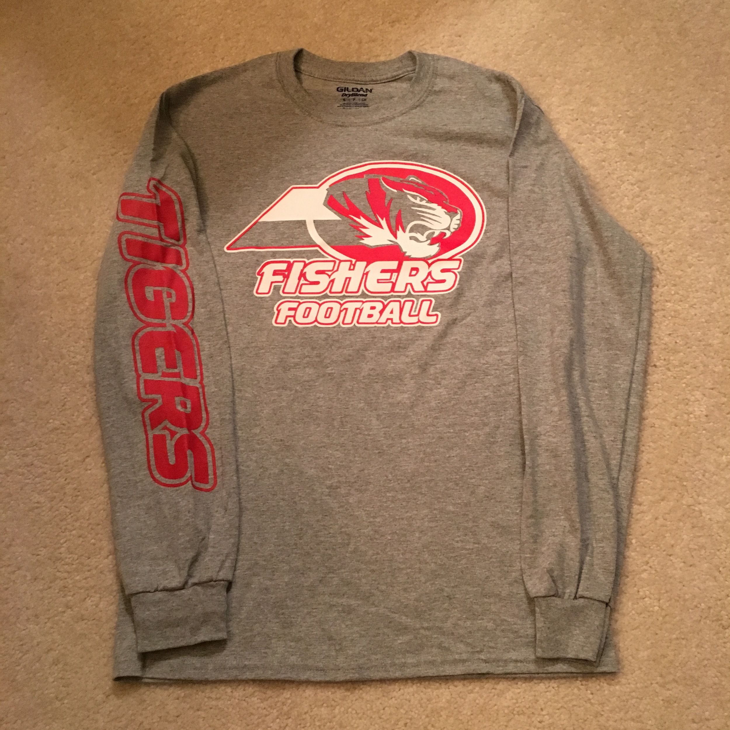 SW Grey long sleeve t front and sleeve logo