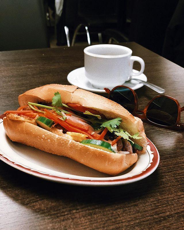 Pork bahn-mi with a fried egg. Sunday ritual.  #uforestaurant // #patrickshootsfood // . . . #shotoniphone #toeats #foodphotography #eaters #eateverything #toeats #blogto #foodie #yum #tasty #foodporn #foodie #foodstagram #food🍴#sharefood #freshfood #toeats #foodto #sixeats #6eats  #eat #livetoeat #foodstagram  #food❤️ #eat🍴  #torontobloggers #nyceats #potd #patrickshootsfood #eeeeeats