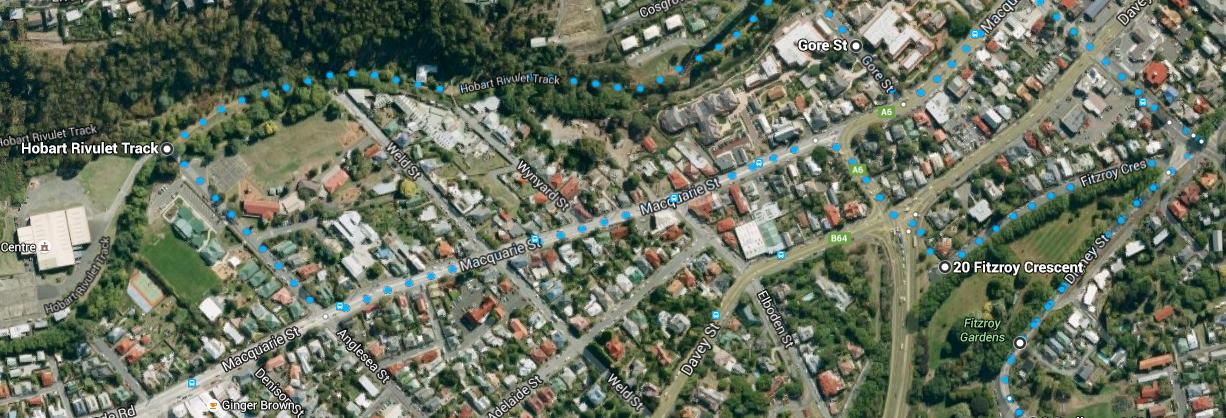 Hobart Rivulet Track - minutes away