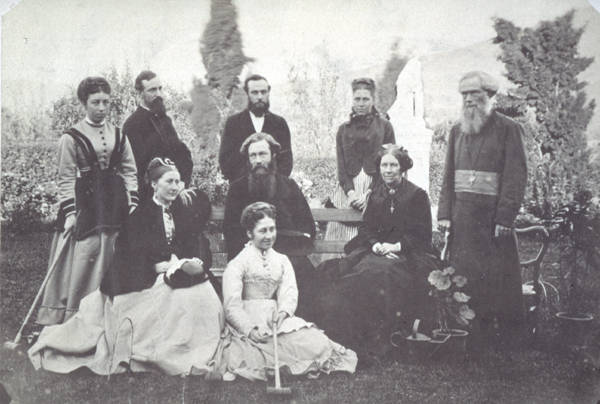 Croquet appealed to all ages and both sexes: a party at Bishopscourt, Hobart, about 1880 (ALMFA, SLT)