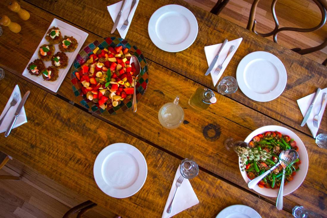 Travellers shouldn't necessarily count on losing any weight on their trek with Tasmanian fare prepared by a private chef a staple of the experience. GREAT WALKS OF AUSTRALIA