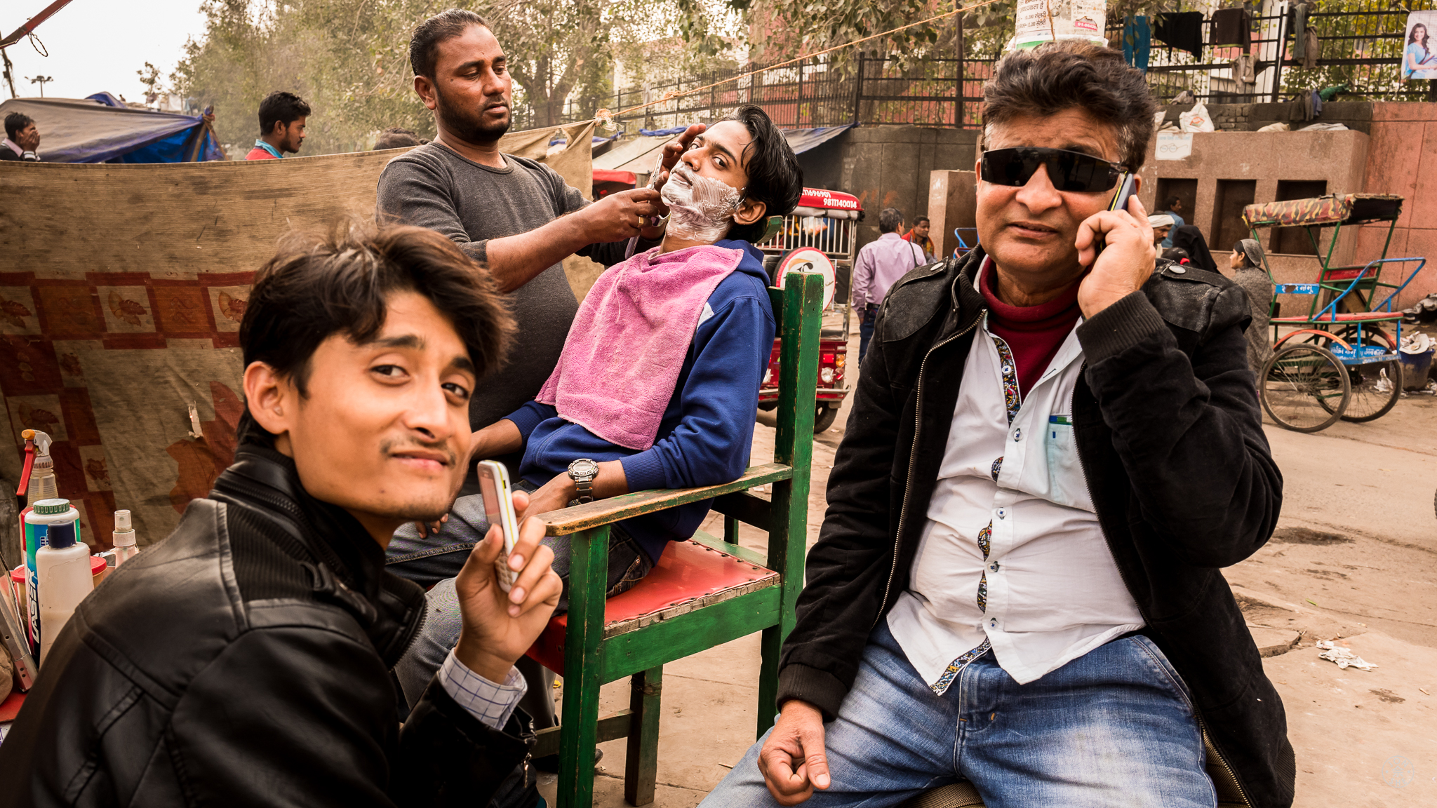 """Waiting for the Barber"" . Old Delhi, India. January 2017. © Jon She. Leica M10, Leica Summilux 28mm f/1.4 ASPH."