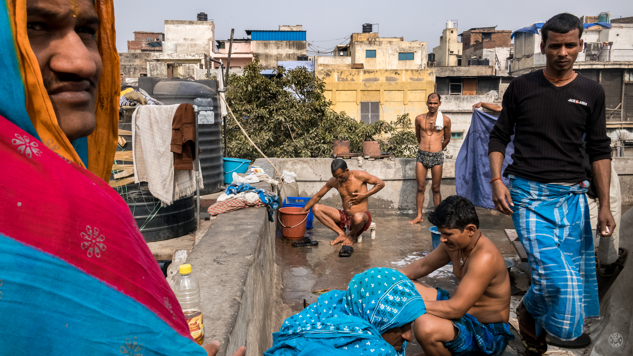 """The Bathroom on the Roof"".  Old Delhi, India. January 2017. © Jon She. Leica M10, Leica Summilux 28mm f/1.4 ASPH."