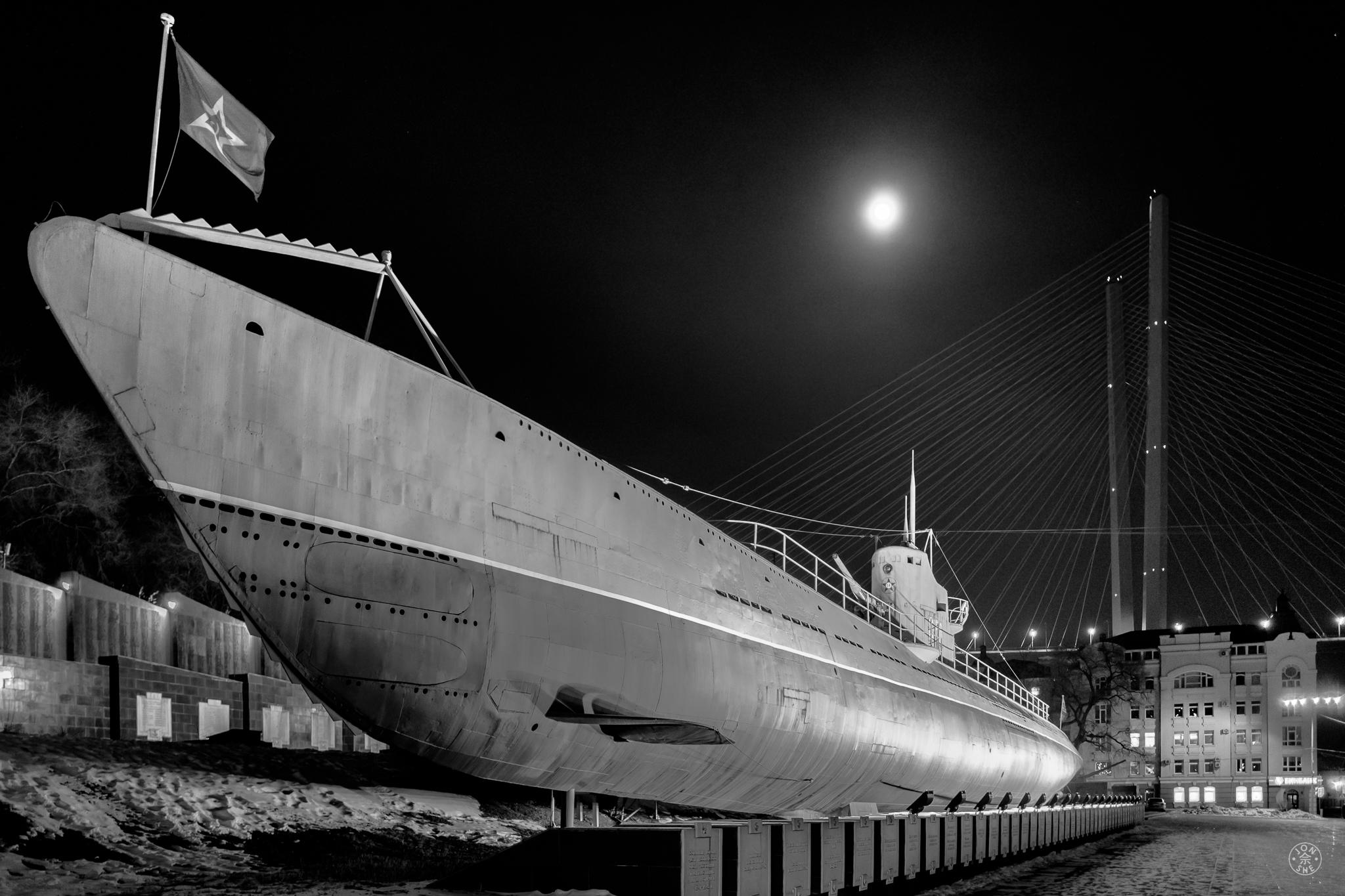 """Midnight Submarine"".  Vladivostok, Primorsky Krai, Far East Russia. January 2017. © Jon She. Leica Q (Typ 116), Leica Summilux 28mm f/1.7 ASPH (FLE)."