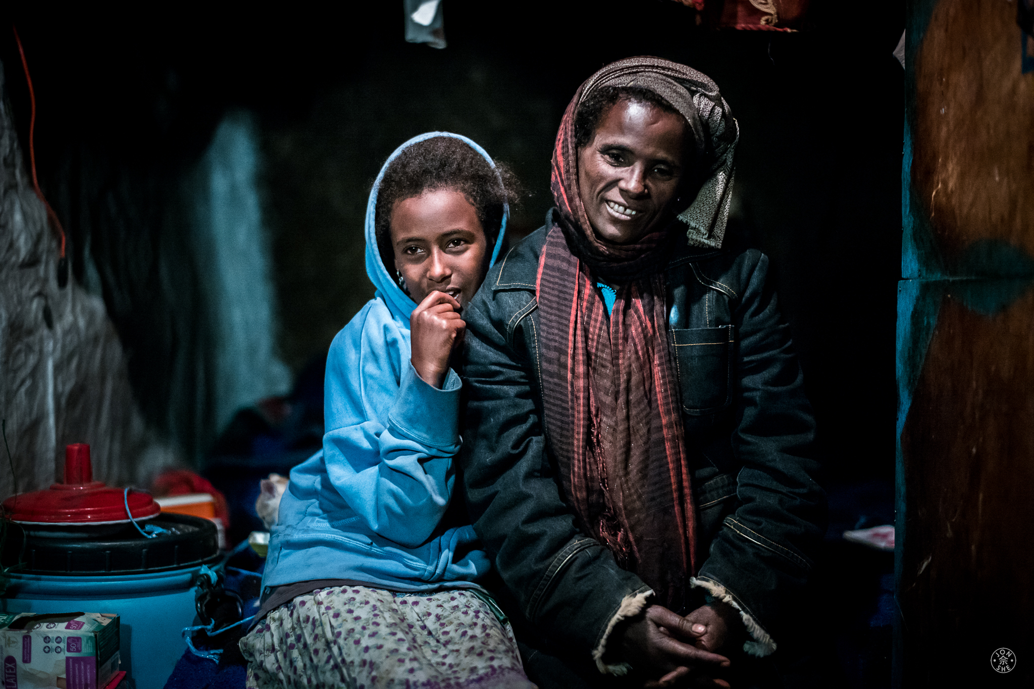 I will always remember this lady and her daughter as my first hosts in this beautiful country - the first to welcome me into their home. Addis Ababa, Ethiopia. © Jon She 2017.