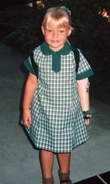 A young Jessica at primary school