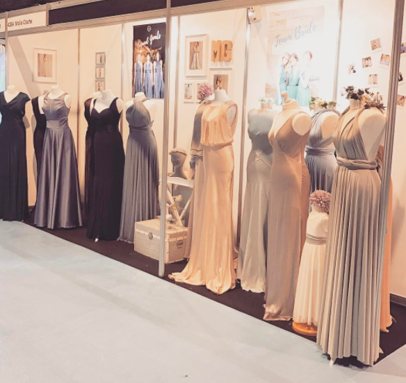 We took our beautiful Bridesmaid dresses to The Scottish Wedding Show at the SECC.