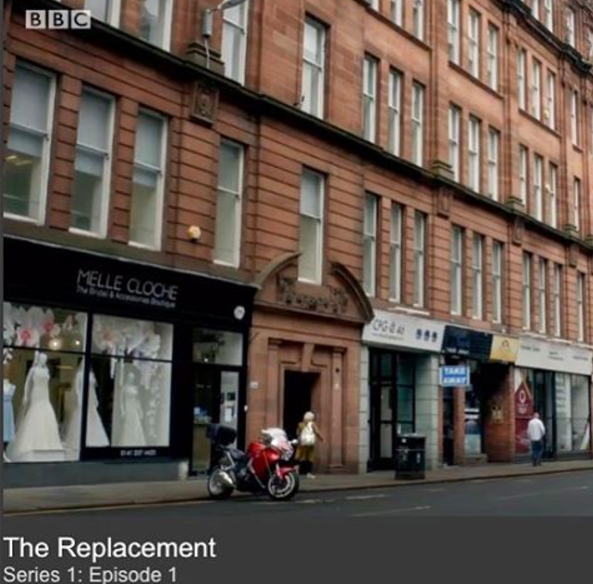 The shop made an appearance (a few times) in the new BBC drama, The Replacement